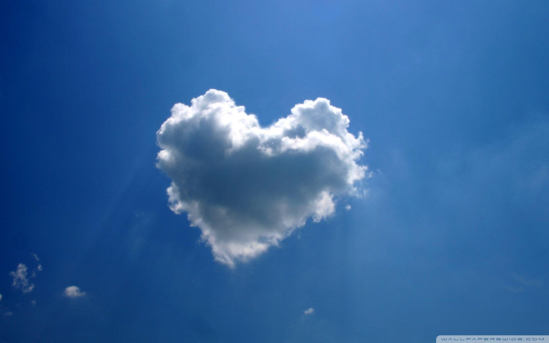 heart cloud wallpaper